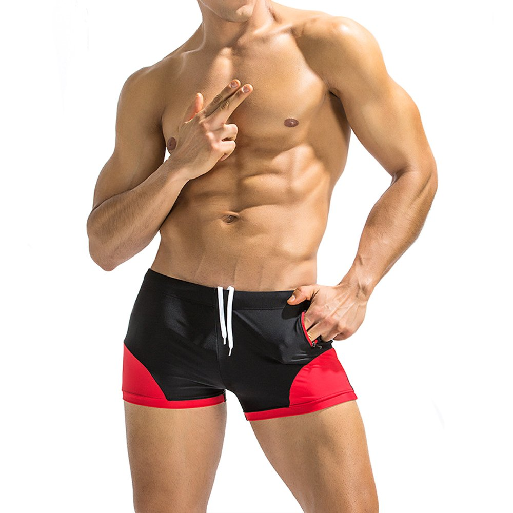 efb13c11d5d Dgasin Men's Swim Trunks Slim Wear Fitness Shorts Boxer Brief Swimwear  Tight Shorts | Amazon.com