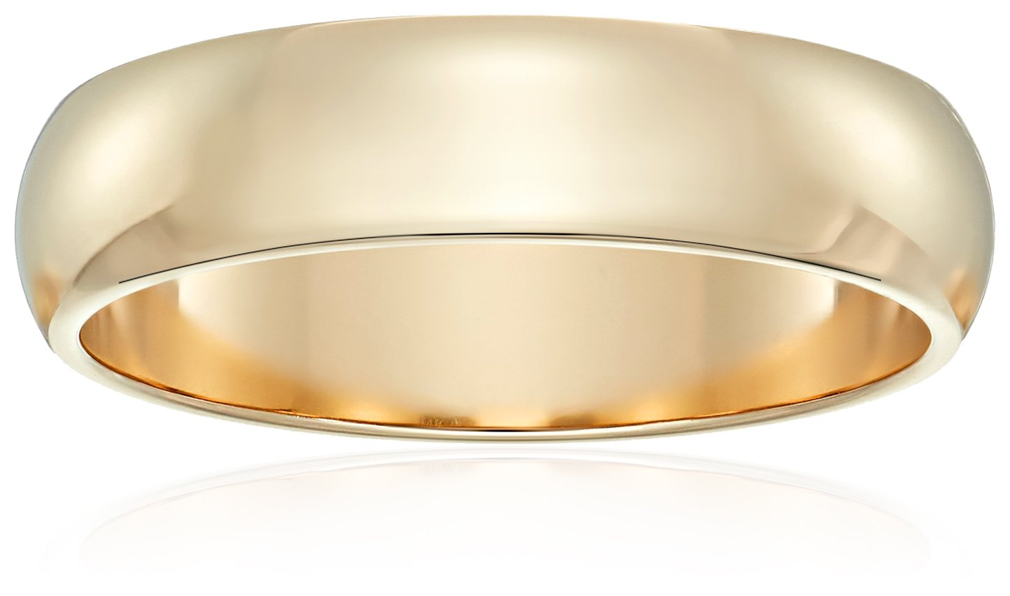 Classic Fit 10K Yellow Gold Band, 5mm, Size 12