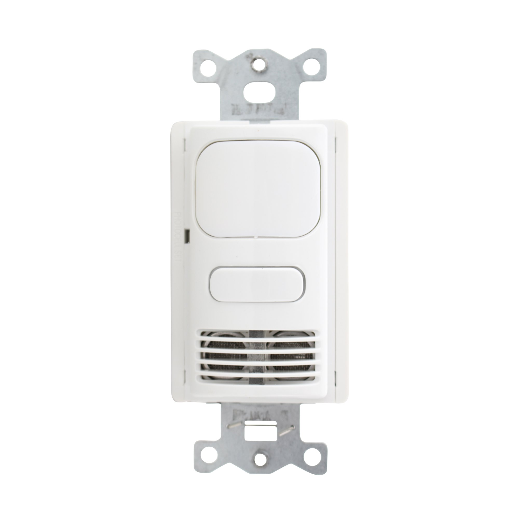 Hubbell Building Automation LHMTS1-G-WH LightHawk2 Dual Technology Wall Switch Sensor, Ground Wiring, 1 Button, 1000' Sensing Distance, White