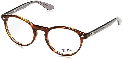 5e30df41161 Ray-Ban RB5283 Glasses in Striped Havana RX5283 2144 49  Amazon.ca ...
