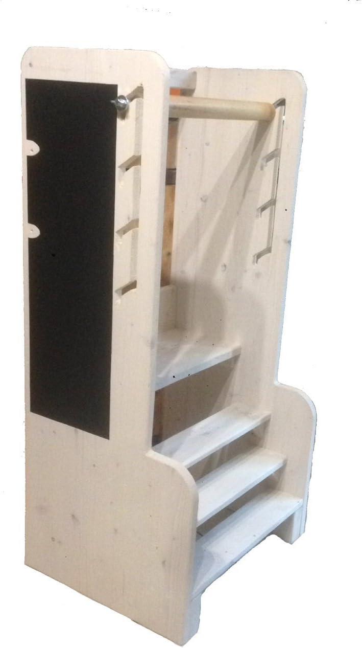 Learning Tower Torre Montessori taburete para niños Selección rápido H100 X L50 x P40 cm: Amazon.es: Hogar