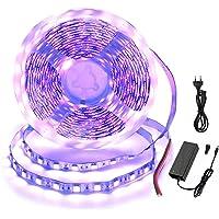 Arotelicht LED-strip licht, tape licht, violet licht, 5M, SMD5050, 12V, niet-radioactief, Alleen verlichting,wordt…