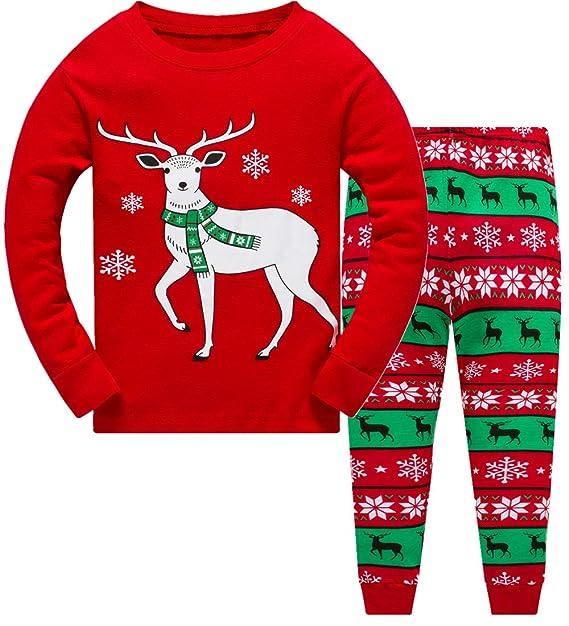 Amazon.com: Pijamas de Navidad para niños y niñas, 100 ...