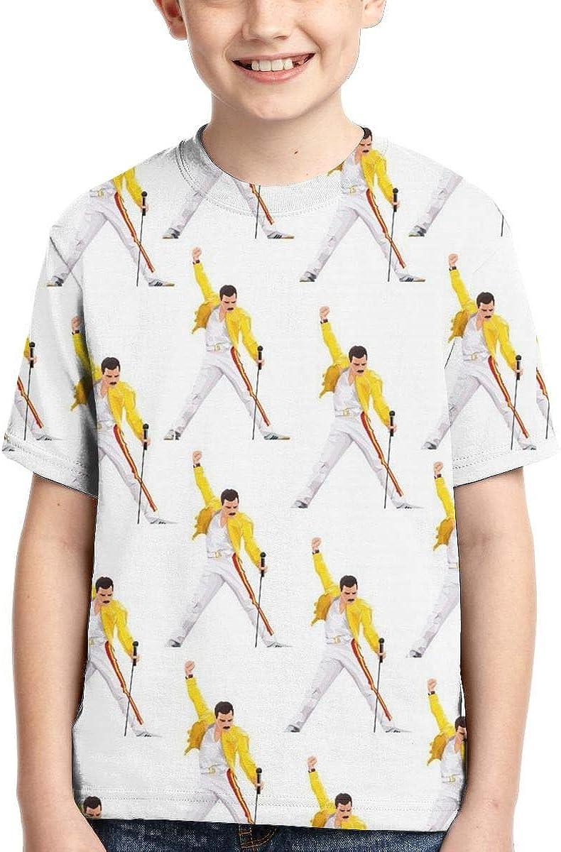 PUTIEN Print Colorful Boys and Girls Soft Short Sleeve T-Shirt,Striped Anim