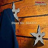 1Piece Ninja Throwing Death Star Coat Hook / Ninja Star Coat Hook