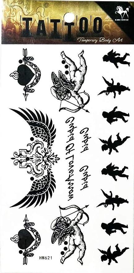 Amazon Com Pp Tattoo 1 Sheet Vintage Goddess Cubic Angel