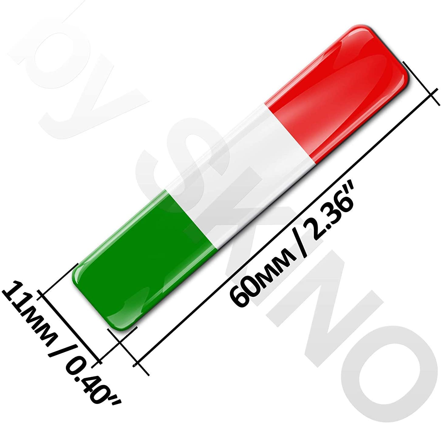 4 x 3D Domed Silicone Stickers Decals Italy National Italian Flag Car Motorcycle Helmet F 13