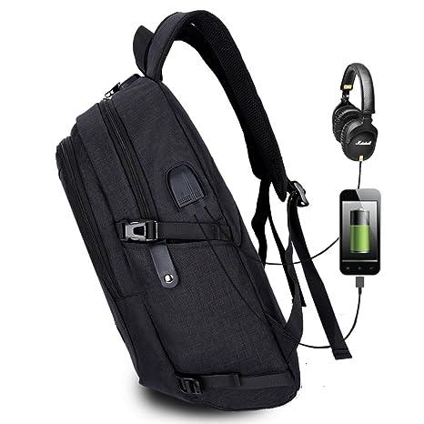 Amazon.com: Mochila para portátil con puerto de carga USB y ...