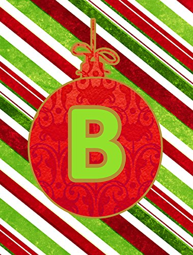 Caroline's Treasures CJ1039-B-CHF Christmas Ornament Holiday Letter B Monogram Initial Flag, Large, Multicolor For Sale