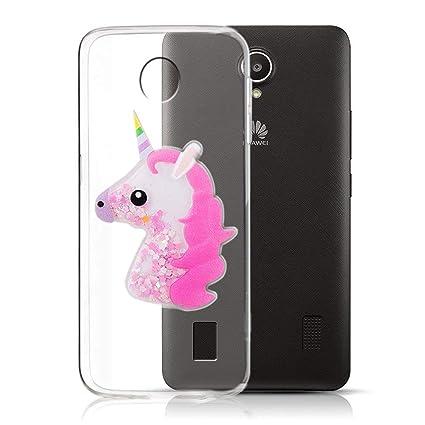 Funda Huawei Y635, Unicornio Cover 3D Glitter Bling Grueso ...
