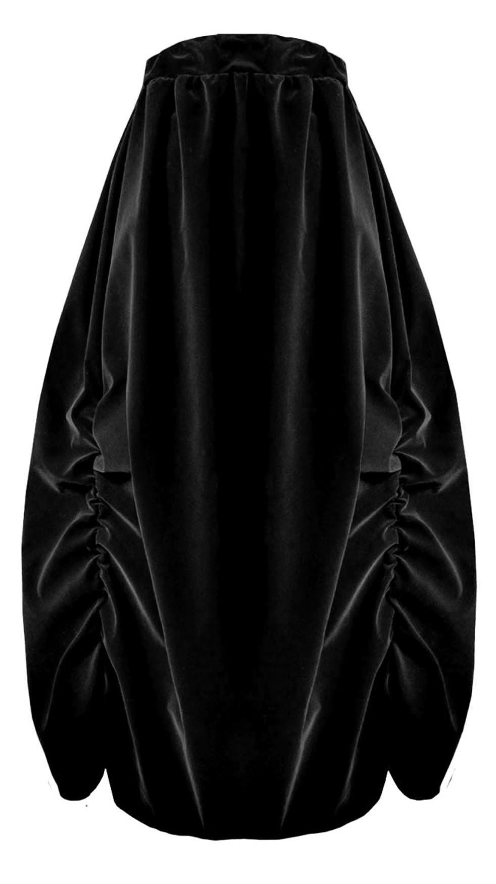 Victorian Valentine Steampunk Gothic Civil War Velvet Bustle Skirt (Black) by Cykxtees (Image #1)