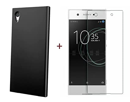 100% authentic e4b5a 33f85 FABCARE Sony Xperia XA1 Back Cover and Tempered Glass Combo Pack