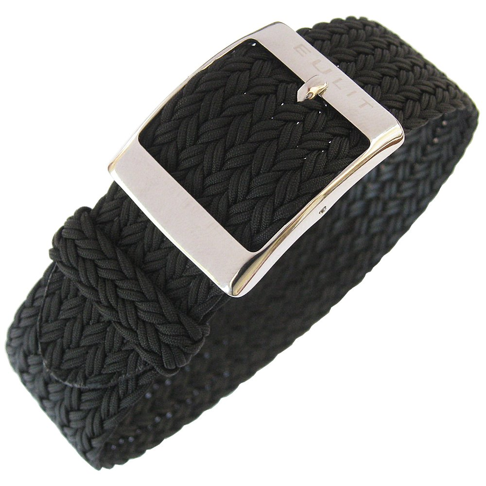Eulit Palma 22mm Black Perlon Watch Strap