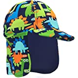 Dream Bridge Baby Toddler Boys Dinosaur Swim Hat Water Hat UPF 50 + Sun Hat Quick Dry Flap Hat Beach Pool