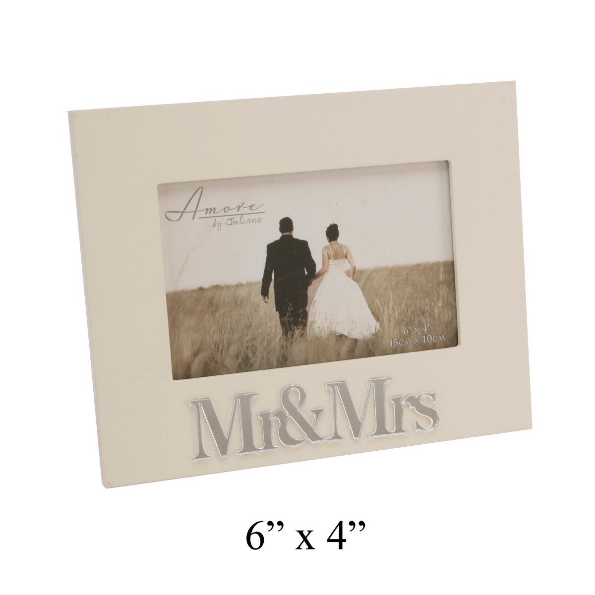 beautiful cream 3d mr mrs photo picture frame amazoncouk kitchen home - Mr And Mrs Picture Frame