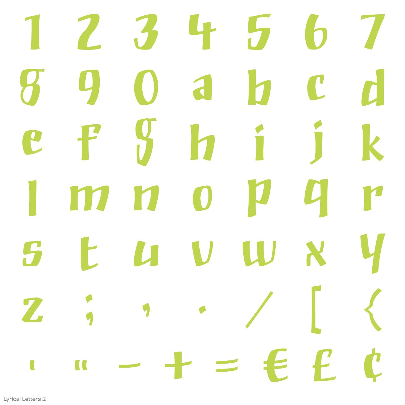 Cricut Lyrical Letters 2 Cartridge by Cricut (Image #22)