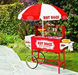 Nostalgia HDC701 48-Inch Tall Vintage Collection Hot Dog Vending Cart with Umbrella