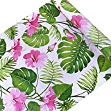 SimpleLife4U Hawaii Flower Style Contact Paper Self-Adhesive Shelf Liner Makeup Jewelry Cabinet Decor 17.7 Inch By 9.8 Feet