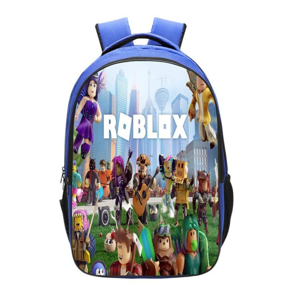 Mochilas Infantiles Mochila 3D Roblox Junior para Niños Y Niñas Mochilas Escolares De 6-12 Años J-42 * 29 * 16CM