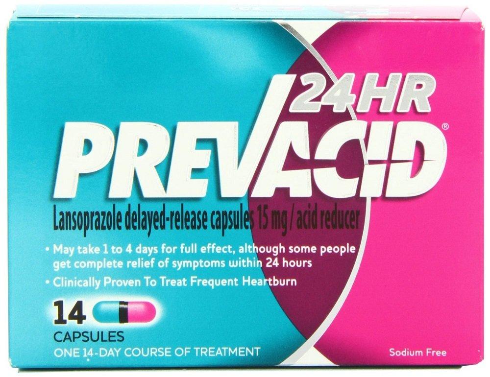 Prevacid Heartburn Relief 24 Hour Capsules 14 Count per Box (10 Pack) by Prevacid
