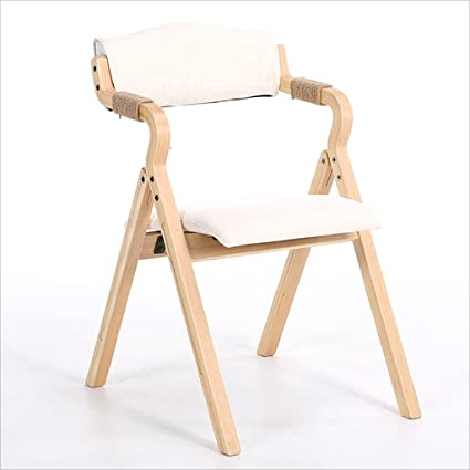 Beau Fold Up Chairs Home Simple Portable Solid Wood Folding Dining Chair, Simple  Folding Back Computer