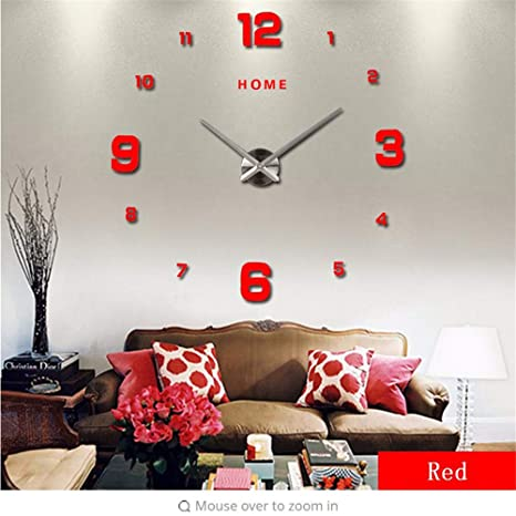 guyuell Home Letters Reloj De Pared Digital Árabe 2019 Hogar Decorativo 3D Relojes De Pared De