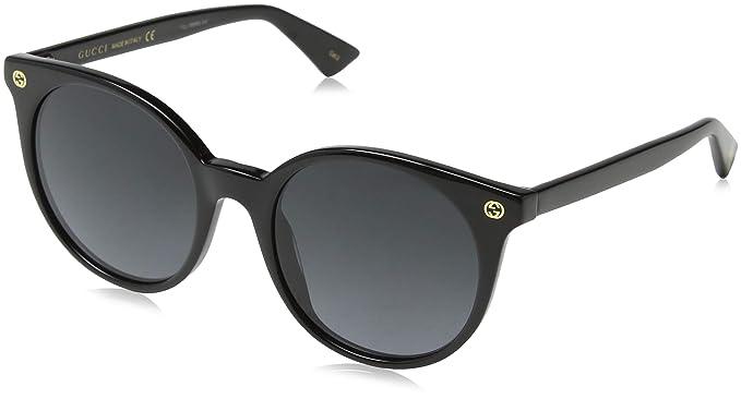 Gucci GG0091S 001 Gafas de sol, Negro (Black/Grey), 52 para ...