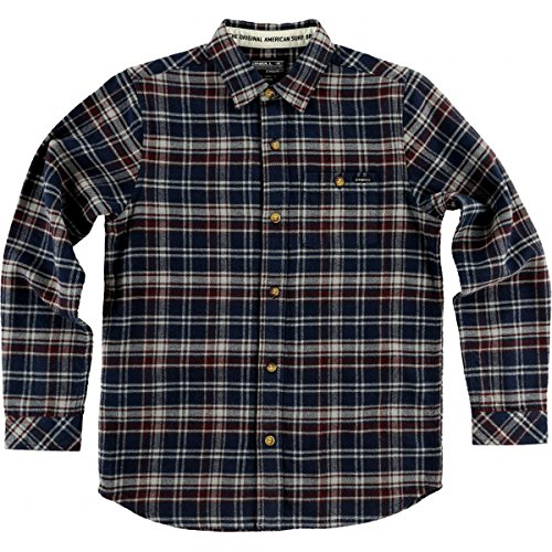 O'Neill Big Boys' Redmond Flannel Shirts,X-Large,Dark Navy by O'Neill