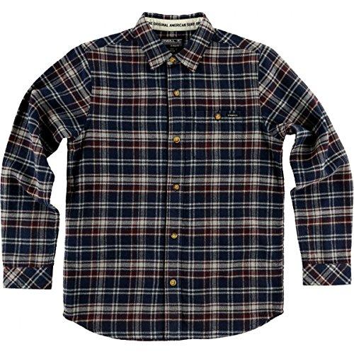 O'Neill Big Boys' Redmond Flannel Shirts,X-Large,Dark Navy by O'Neill