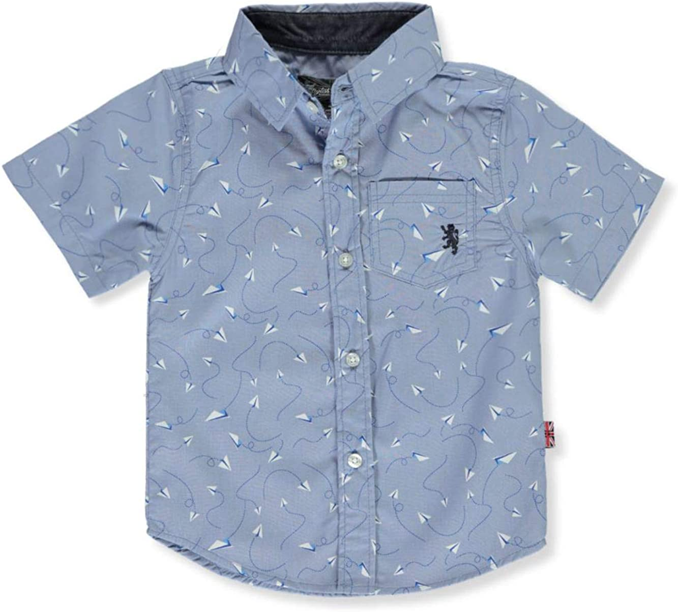 English Laundry Boys' Classic Short Sleeve Woven Shirt