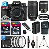 Holiday Saving Bundle for D7500 DSLR Camera + 55-300mm VR Lens + 650-1300mm Telephoto Lens + AF-P 18-55mm + 500mm Telephoto Lens + 2yr Extended Warranty + 32GB Class 10 - International Version