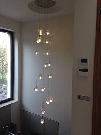 Delicieux Phube Lighting LED Meteor Shower Chandelier Light Fixtures Stairwell  Chandelier Modern Foyer DIY Crystal Chandelier (