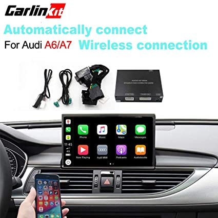 Carlinkit Wireless Connection carplay for Audi A6/A7 (2012-2018 Stereo  System Upgrade/Google and waze maps/mirroring