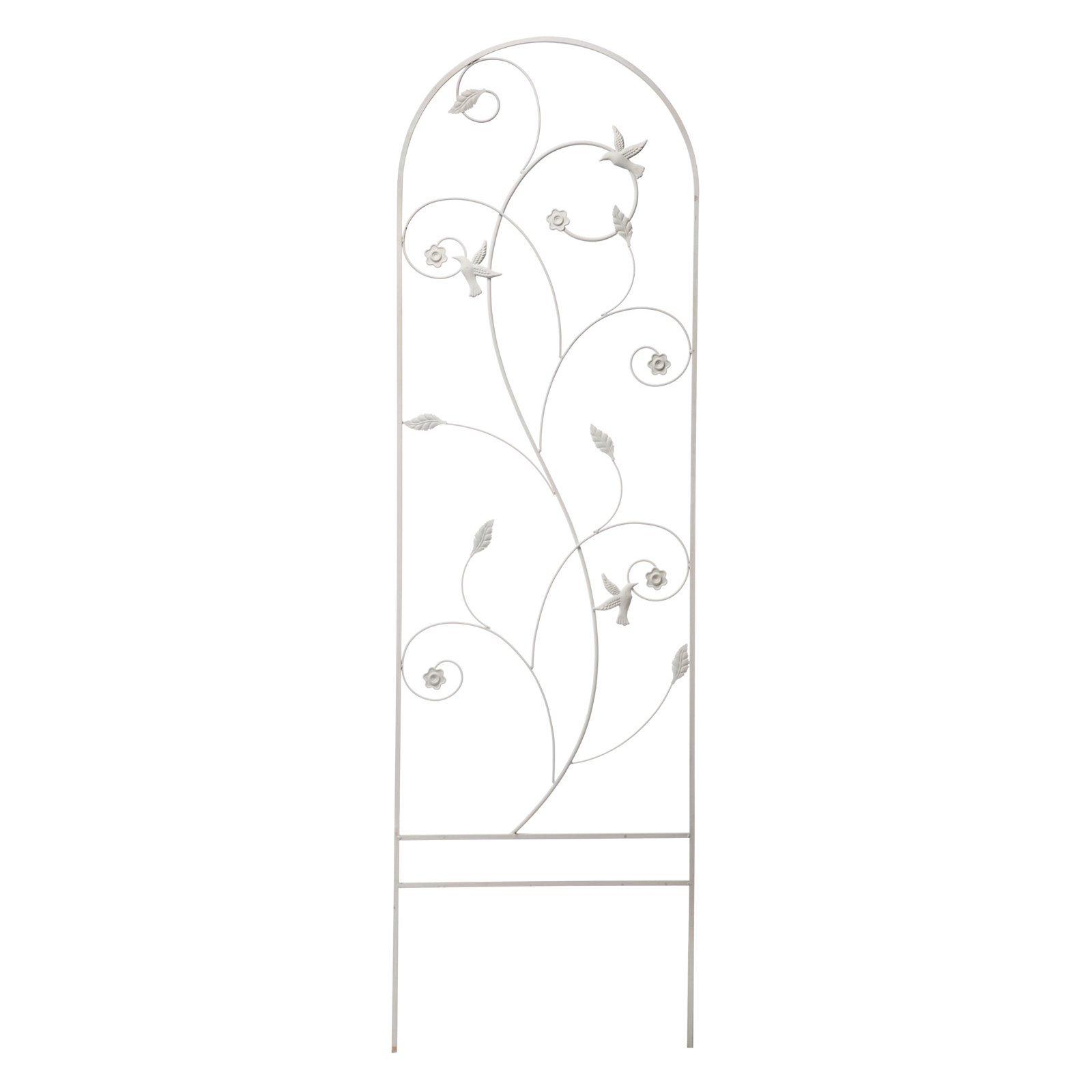 Panacea Bird & Leaf Trellis, 72'' x 22'', Off White