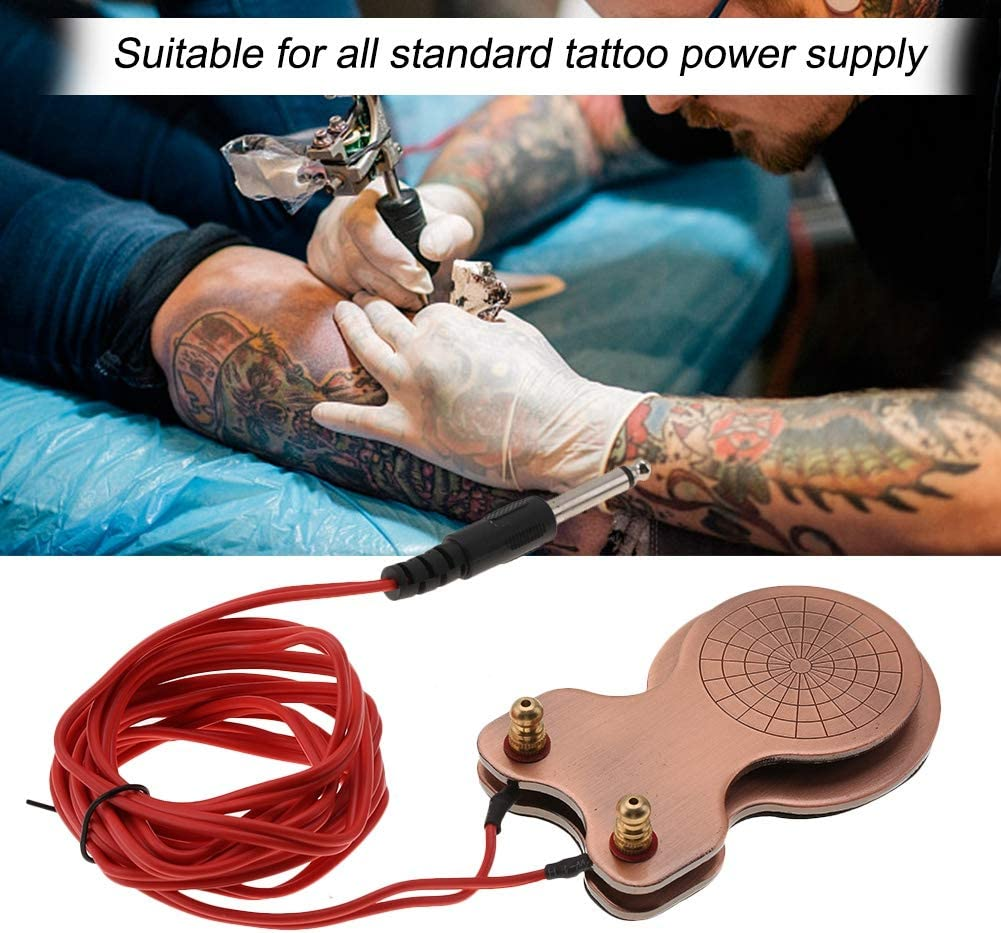 Pedal de tatuaje antideslizante - máquina de tatuaje con micro pedales para tatuar con un cable de alimentación, controlador de pie para la máquina de tatuaj: Amazon.es: Belleza