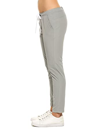 c101c49b8 Goodfans Womens Lightweight Waterproof Casual Sports Hiking Pants, Grey,  Small