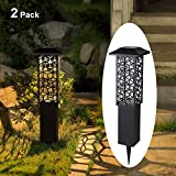 Maggift 12 Lumens 28 inch Solar Garden Lights Outdoor Solar Landscape Lights Solar Outdoor Floor Lamp for Porch Lawn Patio Yard, 2 Pack