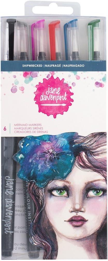 Jane Davenport de sirena marcadores, náufragos: Amazon.es: Juguetes y juegos