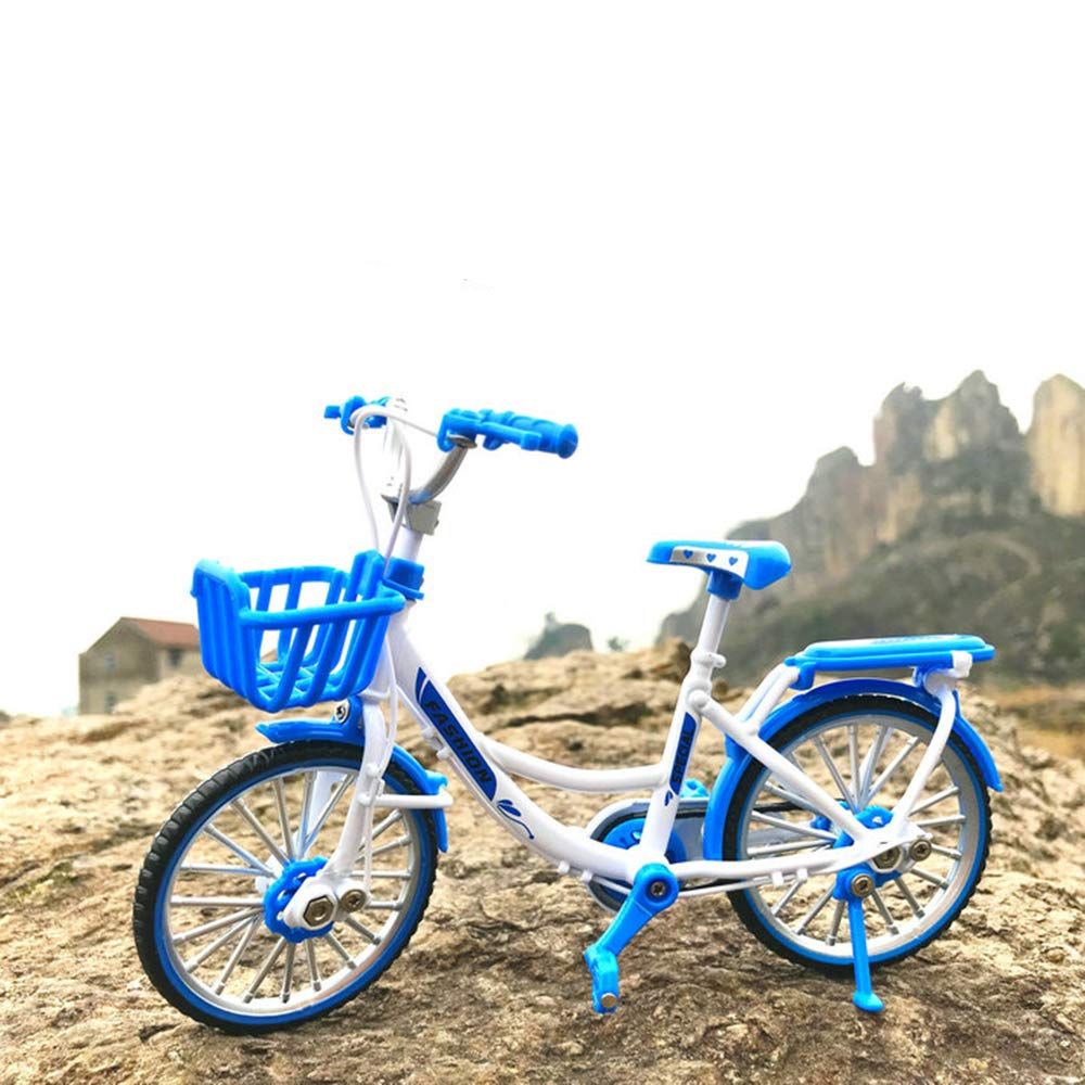 Ladies/' Bike Pink Urchins/' Family Alloy Mini Bicycle Toy Finger Bike for Collections