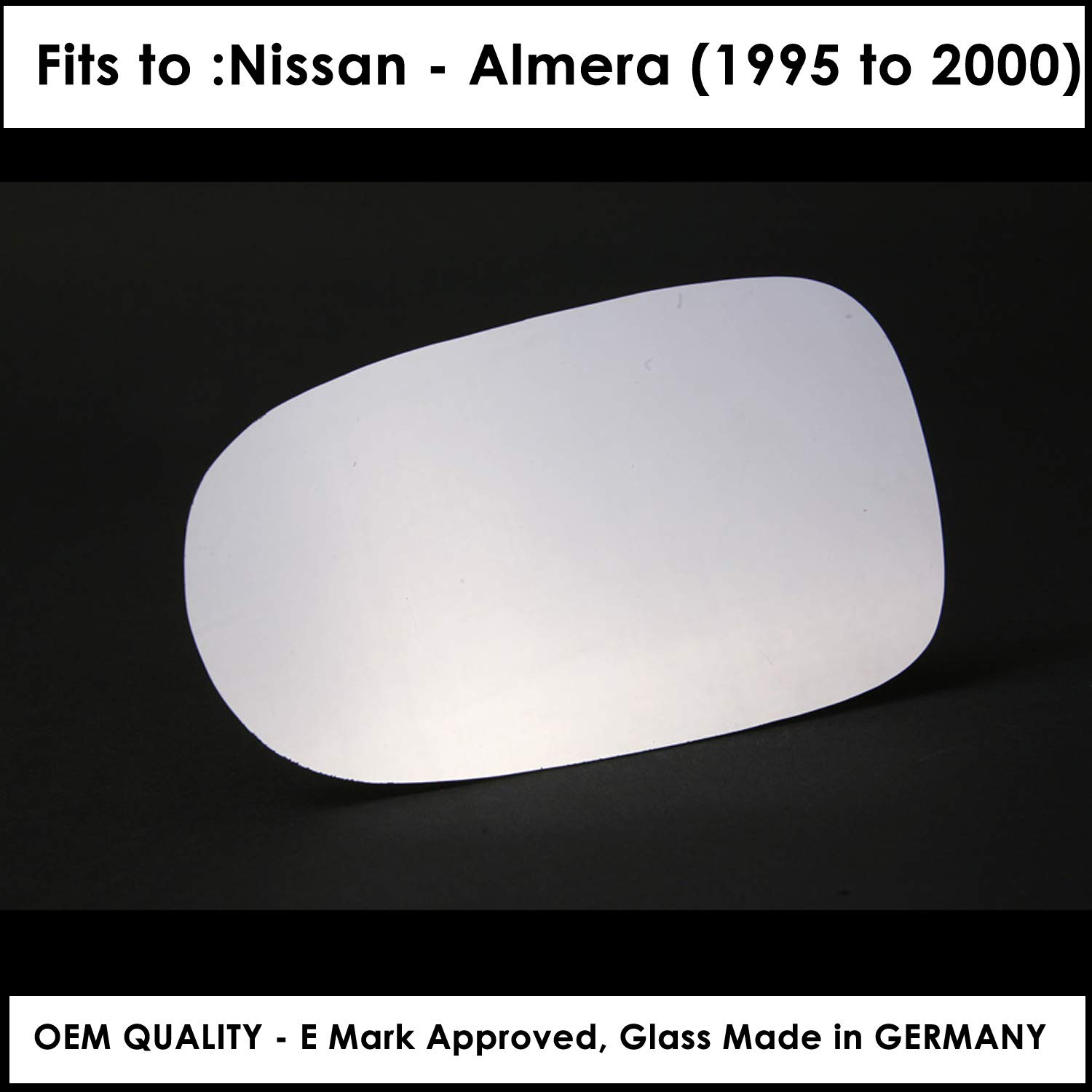 NIAlmera 2000 to 2006 Silver Wing / Door Mirror s LH(Passenger Side)