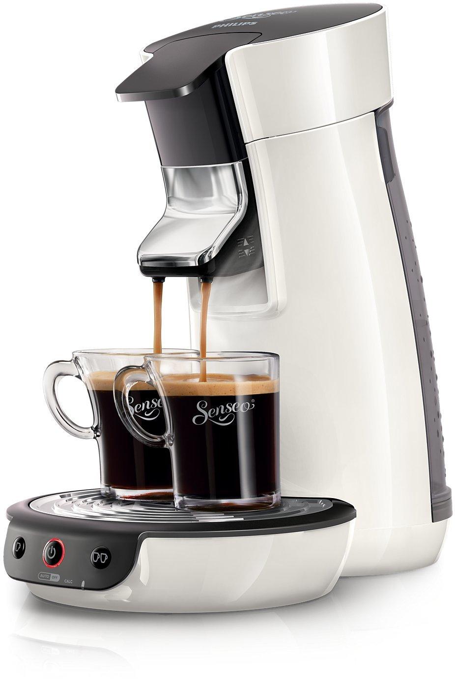 Philips Senseo HD7825/03 Independiente Máquina de café en cápsulas Negro, Blanco 0,9 L 2 tazas - Cafetera (Independiente, Máquina de café en cápsulas, ...