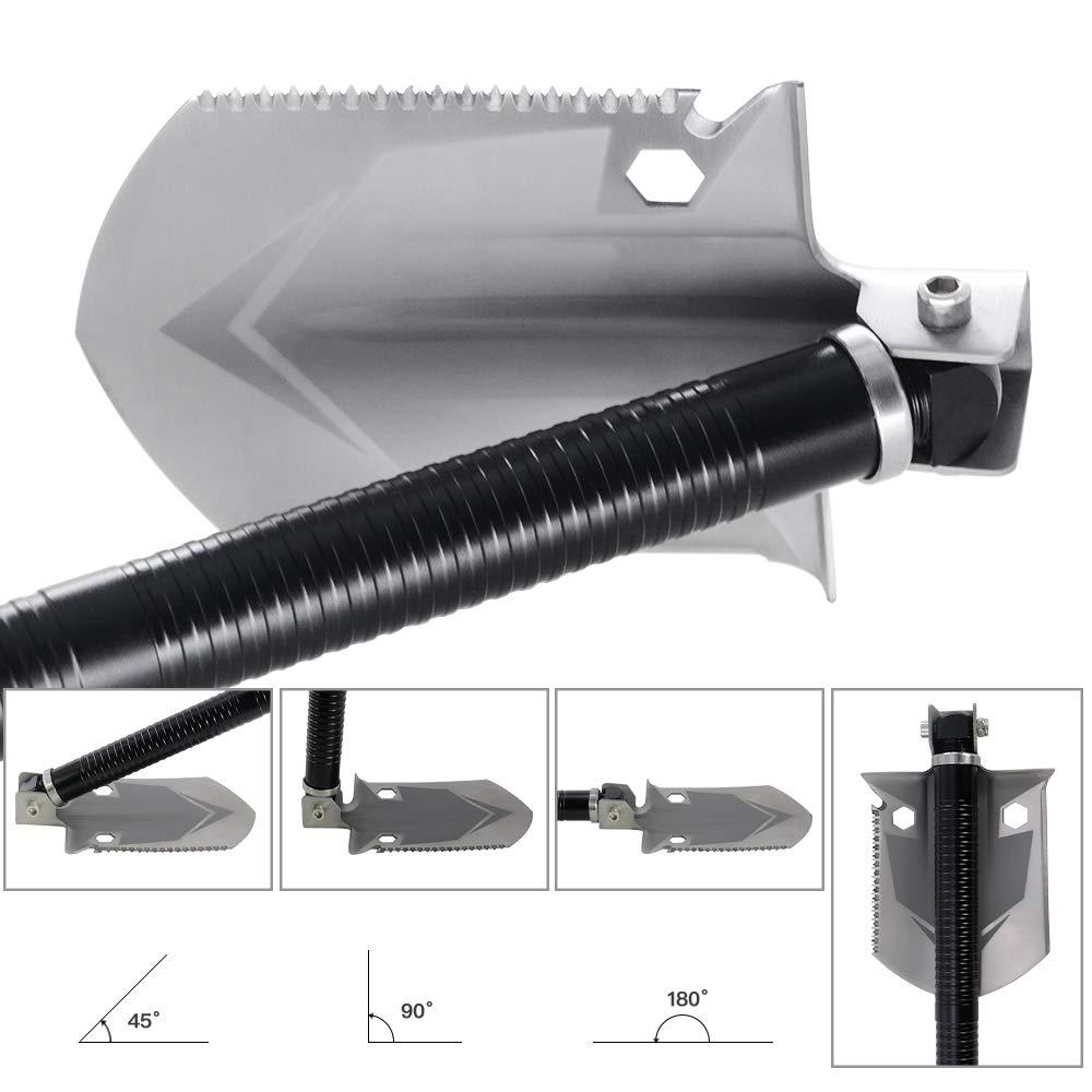 ROSE KULI Folding Shovel Multitool - Military Compact Snow Shovel for Car Camping Backpacking Gardening Outdoor Activities by ROSE KULI (Image #6)