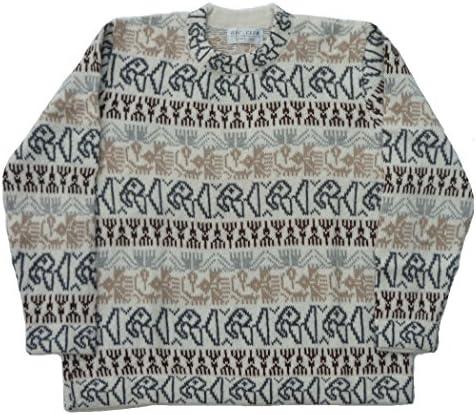 アルパカ100%セーター インカ柄 ナスカ地上絵 ソフト ALC-041