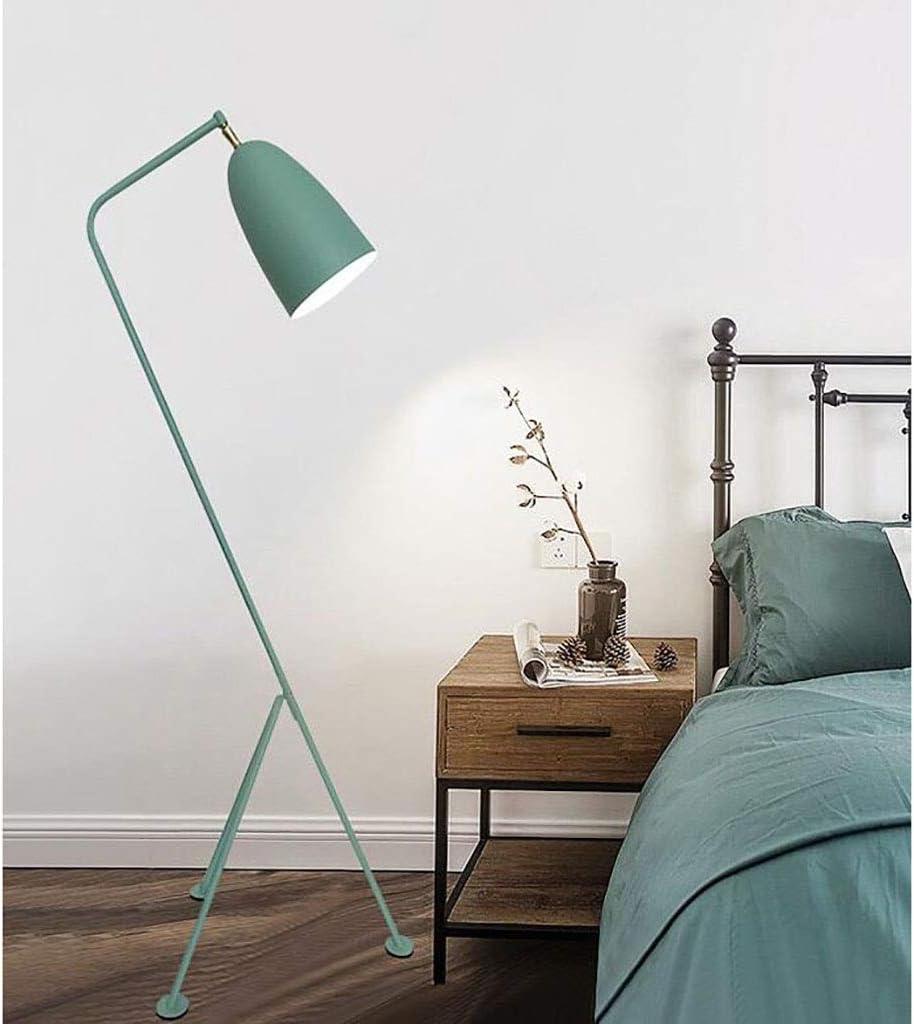 Nordic Floor Lamp Grasshopper Retro Creative Living Room Learning Bedroom Grasshopper Floor Lamp (size: 38 × 38 × 128 Cm) (Color : Green) Green