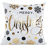 Gotd Merry Christmas Pillow Case Gifts under Christmas Tree Xmas 18 x 18 Cushion Cover Merry Chritmas Home Decor Design Throw Pillow Cover Pillow Case 18 x 18 Inch Cotton Linen for Sofa