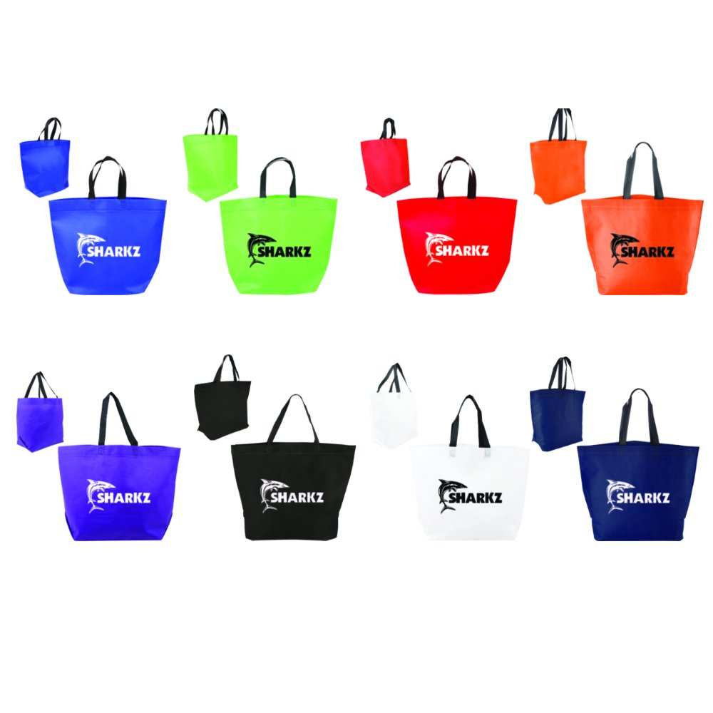 Two Tone Heat Sealed Shopper Tote - 150 Quantity - $1.85 Each - PROMOTIONAL PRODUCT / BULK / BRANDED with YOUR LOGO / CUSTOMIZED by Sunrise Identity (Image #4)