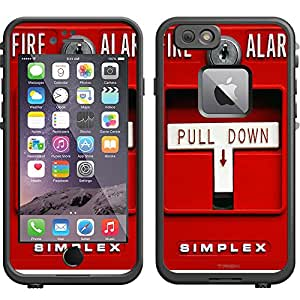 Skin Decal for LifeProof Apple iPhone 6 Case - Red Fire Alarm Pull Down
