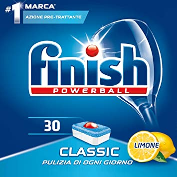 Finish - Powerball Classic limón - Detergente en pastillas para ...