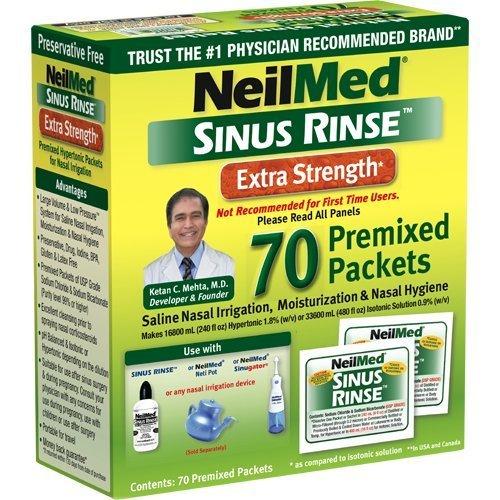 Neilmed Sinus Rinse Extra Strength Hypertonic 70 Packets (Pack of ()