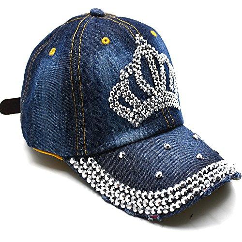 wn Hat Sparkle Rhinestone Brim Studs Adjustable Breathable (Sparkle Cap)